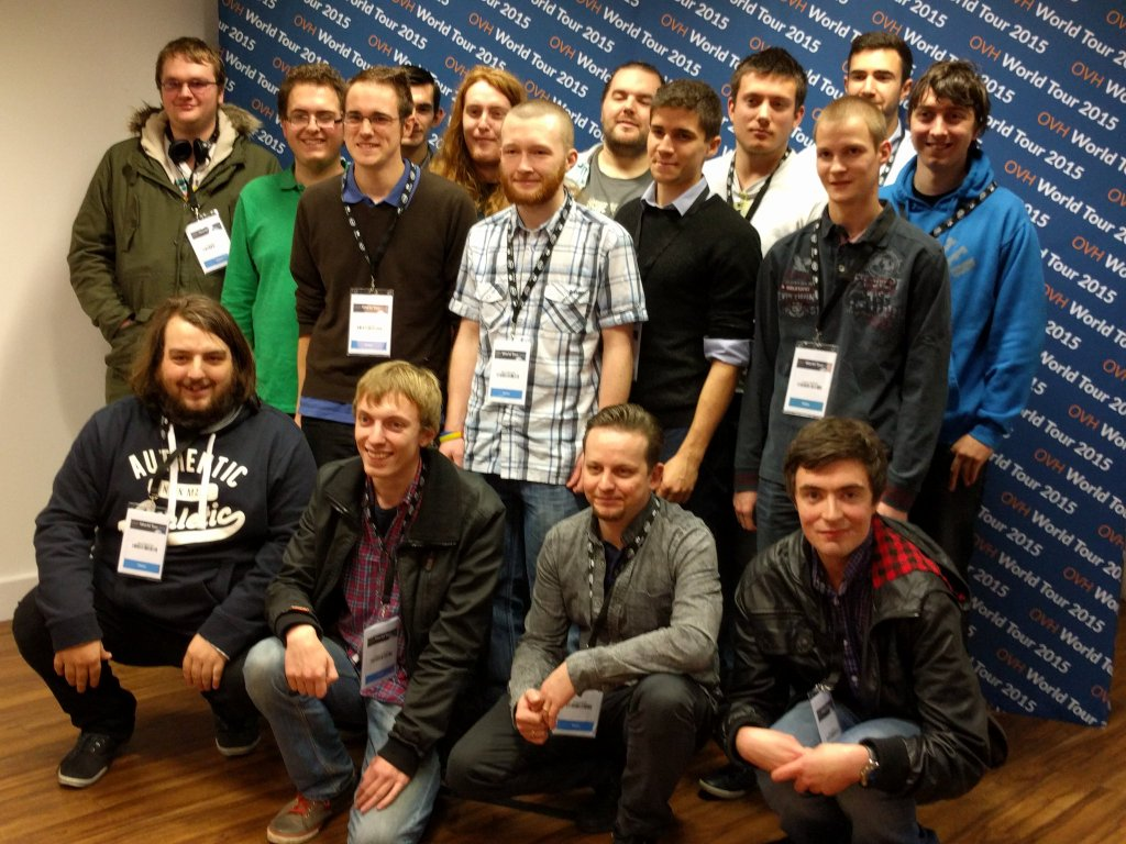 Staffordshire University Students at OVH World Tour 2015
